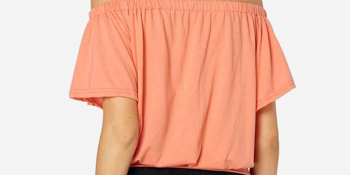 Off The Shoulder Plain Backless Long Sleeve Irregular Hem Red Plus Size Tops